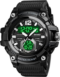 Sponsored Ad - Men's Military Watch Waterproof Outdoor Sports Digital Watch Tactical Watch LED Stopwatch Electronic Analog...