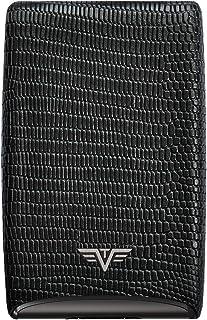 TRU VIRTU Tarjetero de piel., Black Iguana (Negro) - 16104003218
