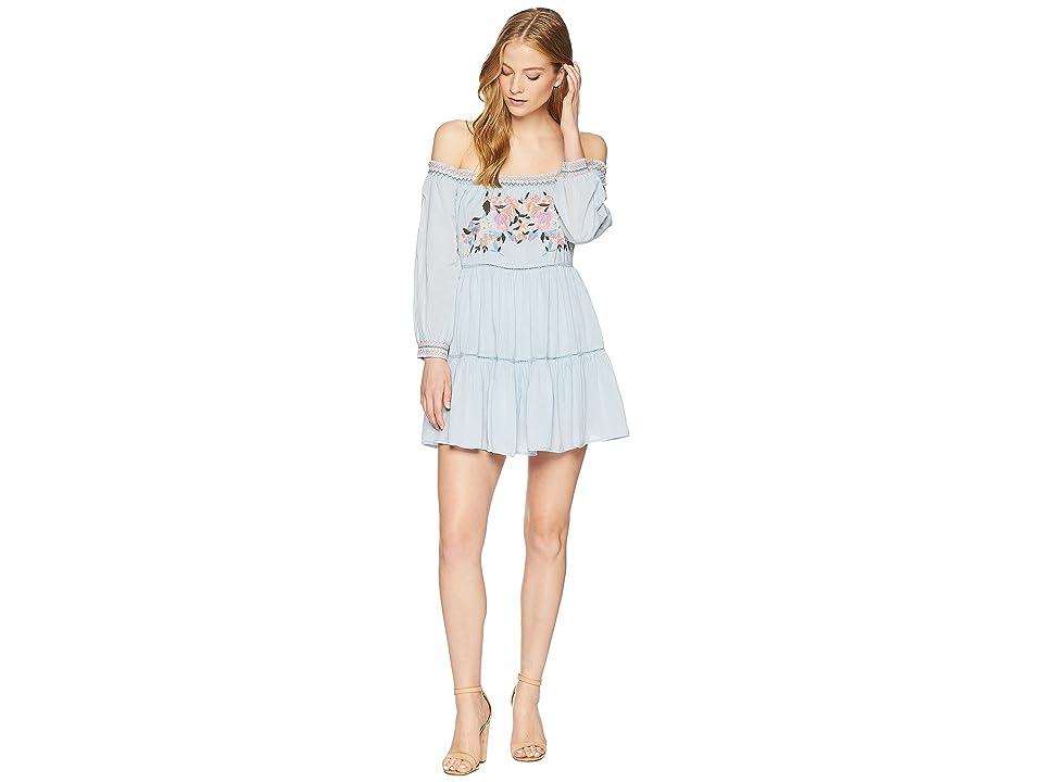 Free People Sunbeams Mini Dress (Blue) Women