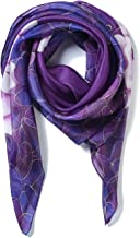 Invisible World Women`s 100% Silk Scarf Square Hand Painted Floral