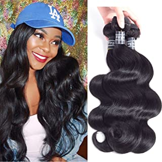 Amella Hair Grade 8A 3 Bundles of Brazilian Body Wave Hair Bundles Weave Human Remy Virgin Hair (8
