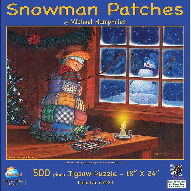 Snowman Patches 500 pc Jigsaw Puzzle