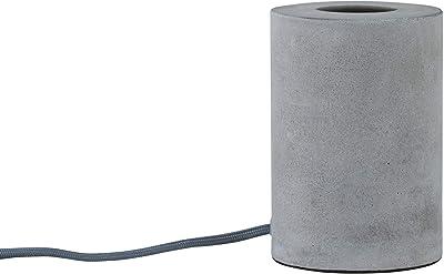 Paulmann 79621 Neordic Mik Lampe de table, rond, max. 1x20W, E27, Gris, 230V, Béton