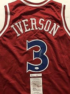 6796962c0 Autographed Signed Allen Iverson Philadelphia Red Basketball Jersey JSA COA