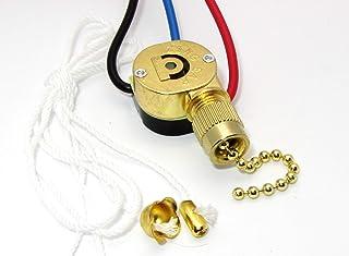 Brass Zing Ear Metal Body Ceiling Fan Light Lamp Replacement Pull Chain Switch ZE-110 ZE-110M 3 wire 2-way 3-way ceiling fan switch 2way 3way