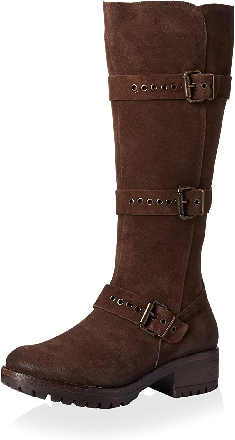 Khrio Women's Tall Boot with Three Buckles
