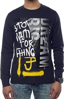 Sean John Men's Split Graphic Print Long Sleeve T-Shirt. Split
