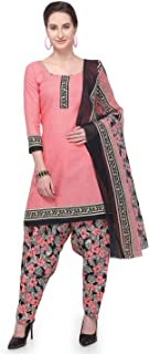 Rajnandini Light Pink Cotton Salwar Suit For Women (Ready To Wear)(One Size)