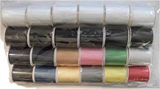 Polyester Sewing Thread Set - 24 Spools (200 Yards Each)