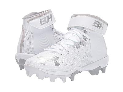 Under Armour Kids Harper 4 Mid RM Baseball (Little Kid/Big Kid) (White/White) Kids Shoes