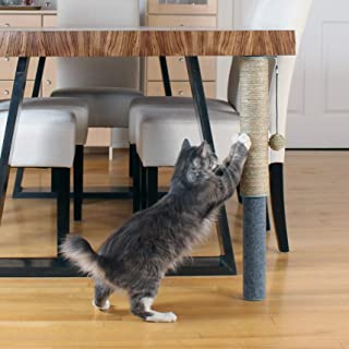 Primetime Petz Hauspanther Scratch Pole Dual-Surface - Adjustable Under-Table Cat Scratcher, Seagrass/Felt