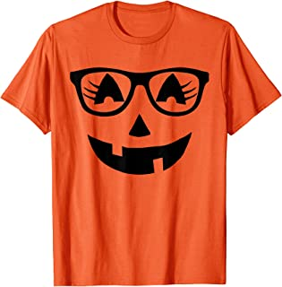 pumpkin with sunglasses shirt