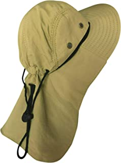 NY GOLDEN FASHION Men Women Boonie Bucket Hat with Neck Flap Wide Brim UV Protection Sun Hat Cap Packable Adjustable
