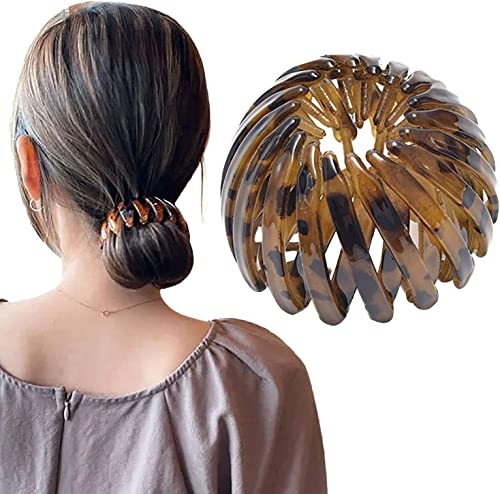 new arrival Expandable High Ponytail Holder Clip Ring Comb Hair Clips Claw French Hair Barrettes Grip Clamps Retractable Hair online sale Loops Ponytail Holder Comb Hair outlet online sale Bands Hair Accessory for Women Girls online sale