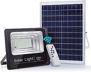 CNSUNWAY LIGHTING Solar Powered Flood Light, Black 100.00W, 7.40V
