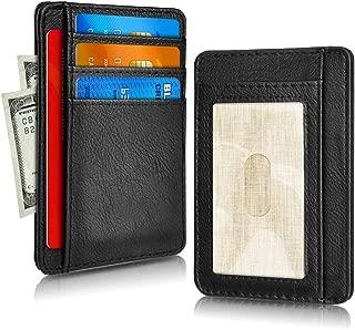 RFID Blocking Credit Card Case Holder, Pocket Leather Minimalist Slim Wallet