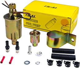 PLDDE New 1pc Universal 2.5-4.5 PSI 12V High Performance free Flow In Line External Electric Fuel Pump With Complete Installation Kit