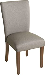 HomePop Parsons Classic Upholstered Accent Dining Chair, Single Pack, Grey