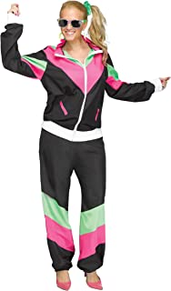 Fun World 80s Track Suit Shell Suit for Women - Plus Size