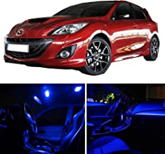 SCITOO 11Pcs Blue Package Kit Accessories Replacement Fits for Mazda 3 2013-2017 LED Bulb LED Interior Lights