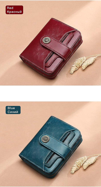 (bluee) Wallet Female Women Wallet Short Wallet Quality Coin Purse Women Button Purse Quality Flower Hardware