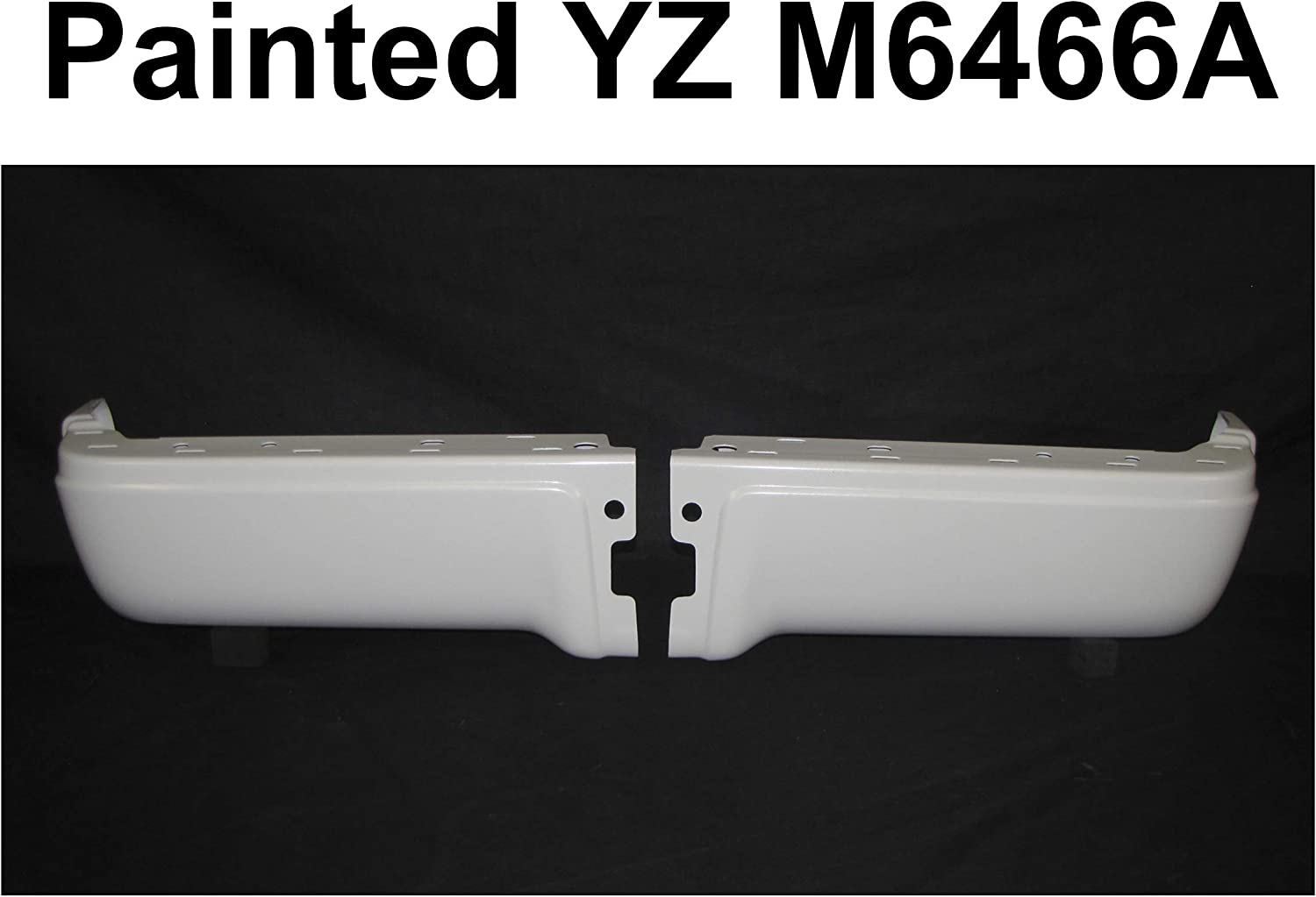 REAR BUMPER END PAINTED OXFORD WHITE SET=LH HOLE Purchase O Gifts W SENSOR RH
