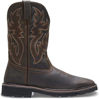 "Wolverine Men's Rancher 10"" Square Toe Soft Toe Work Boot"