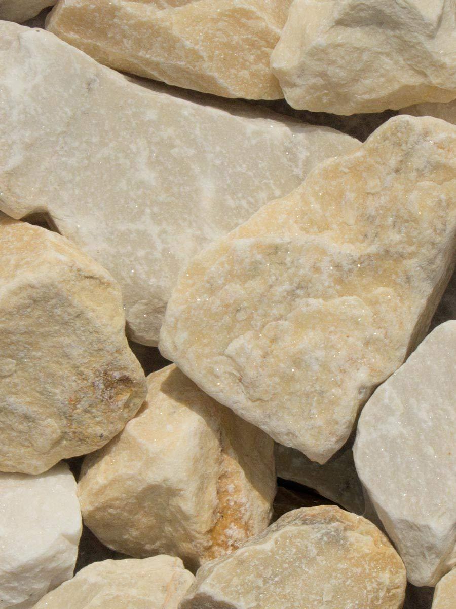 Rocalla Amarilla Mármol, piedra decorativa para el jardín en sacas de 1500Kg. Disponible en formato 40-60mm: Amazon.es: Jardín