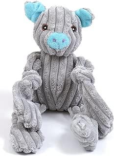 Animate Jumbo Cord Squeaky Toy Pig Grey 11