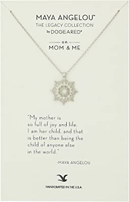 Dogeared - Maya Angelou: Mom & Me Necklace