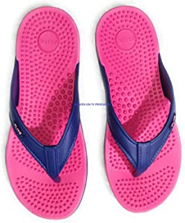 FLITE Accupressure Stylish Slippers for Women Fl-291 Blue Pink 7UK (BBH-FL-291-7-1)