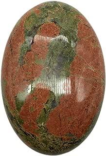 favoramulet Oval Polished Palm Stone, Healing Crystal Pebble Pocket Worry Stones, Unakite 2.3
