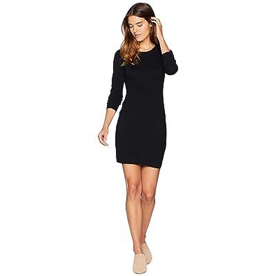 Jack by BB Dakota After Midnight Novelty Stitch Sweater Dress (Black) Women