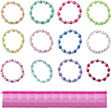 Candygirl Assorted 12pcs Plastic Iridescent Girls Bead Bracelet Kits for Girls Party Favors