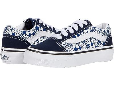 Vans Kids Old Skool (Little Kid) ((Off The Wall) Dress Blues/True White) Boys Shoes