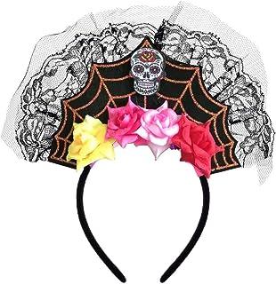 Spinne Federn Stirnband Haarreif Kopfbedeckung Festival Party Kostüm Dekor