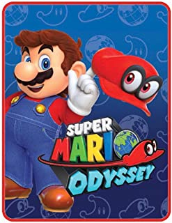 Super Mario Odyssey World Plush Throw Blanket - 46 in. x 60 in.