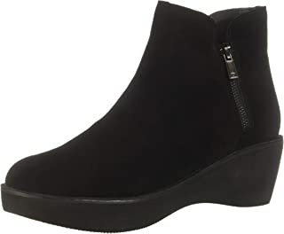 Kenneth Cole REACTION Women's Prime Platform Bootie with Side Zip Ankle Boot, Black Suede, 10 M US