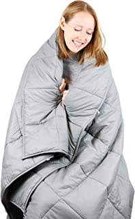 Cooshi Weighted Blanket 20 Lbs Queen and Twin Size 60x80 - Grey - Premium Cotton Adult Heavy Blanket