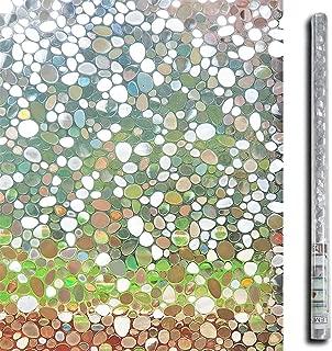 LEMON CLOUD 3D No Glue Static Decorative Privacy Window Films for Glass 35.4In(W) X 78.7In(L) Per Roll