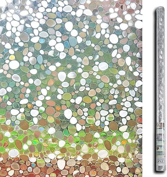 柠檬云 3D 无胶静态装饰隐私窗膜玻璃 35 4In W X 78 7In L 每卷