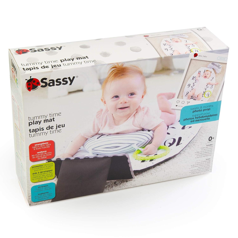 Amazon.com Sassy Tummy Time   Alfombra de juegos con espejo ...
