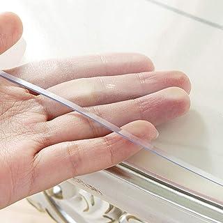 KDDFN Nappe ronde transparente, imperméable, anti-huile, multi-tailles, personnalisable, facile à nettoyer, épaisseur 1 m...