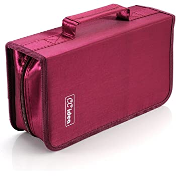 128 Capacity CD Case Holder DVD Storage Binder by CCidea (Red) Specials