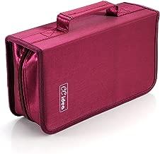 128 Capacity CD/DVD Case Holder,Storage Binder by CCidea (Red)