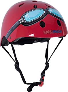 Kiddimoto Patterned Helmet with Dial Adjustment for Kids Children Boys and Girls (Small and Medium)