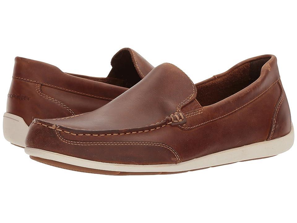 Rockport Bennett Lane 4 Venetian (Cognac Leather) Men