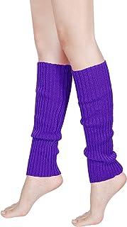 Calientapiernas de Punto para Mujer de los Años 80 Calcetines de Ganchillo Acanalados para Accesorios de Fiesta