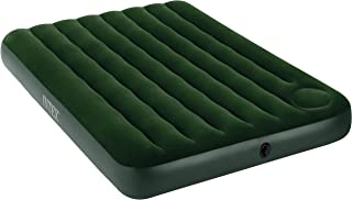 Flocked Downy Air Bed Mattress Camping Bed Built In Foot Pump - Double
