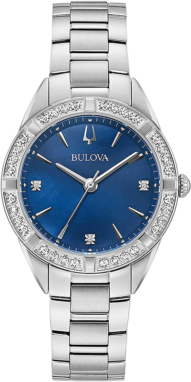 Bulova Sutton - Reloj de pulsera para mujer, diseño clásico, cód. 96R243